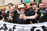Senator David Norris at the Dublin Pride 2012 LGBTQ festival parade Dublin City Ireland. Saturday 30th June 2012.