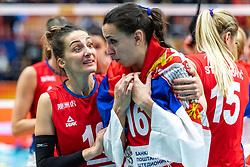 20-10-2018 JPN: Final World Championship Volleyball Women day 21, Yokohama<br /> Serbia - Italy 3-2 / Maja Ognjenovic C #10 of Serbia, Milena Rasic #16 of Serbia