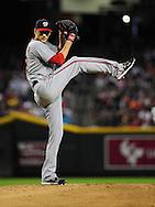 Aug. 12, 2012; Phoenix, AZ, USA; Washington Nationals pitcher Ross Detwiler (48) pitches during the game against the Arizona Diamondbacks at Chase Field.  The Diamondbacks defeated the Nationals 7-4.  Mandatory Credit: Jennifer Stewart-US PRESSWIRE