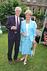 NICHOLAS & ANNIE PARSONS at The Lady Taverners 25th Anniversary Westminster Abbey Garden Party held in The College Gardens, Westminster Abbey, London o 11th July 2012.