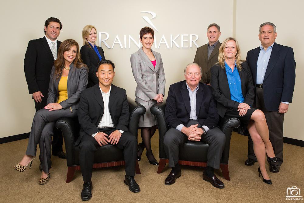 Rainmaker Systems, Inc. executives pose for their portraits at the Rainmaker Systems, Inc. campus in Campbell, California, on April 25, 2013. (Stan Olszewski/SOSKIphoto)
