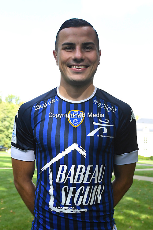 Karim Azamoum during the photocall of Troyes Estac for season of ligue 2 on September 3rd 2016 in Troyes<br /> Photo : Philippe Le Brech / Icon Sport