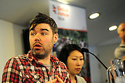 'Take Back Our World' Conference.<br /> Launch of the 'Global Justice Now' group, formally the World Development Movement'.<br /> 'Make it public: turning the tide on privatisation' session.<br /> James O' Nions, Global Justice Now activism team.
