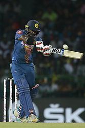 March 16, 2018 - Colombo, Sri Lanka - Sri Lankan cricketer Kusal Perera plays a shot during the 6th T20 cricket match of NIDAHAS Trophy between Sri Lanka  and Bangladesh at R Premadasa cricket ground, Colombo, Sri Lanka on Friday 16 March 2018. (Credit Image: © Tharaka Basnayaka/NurPhoto via ZUMA Press)