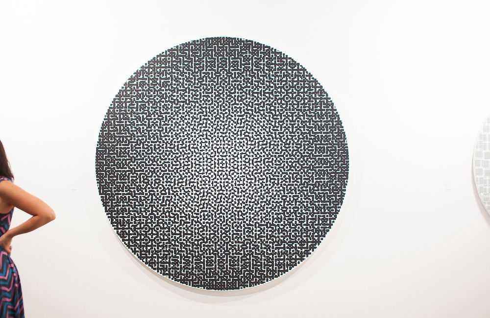 Untitled painting by Matti Kujasado at Galerie Anhava from Finland at Art Basel Miami Beach 2009
