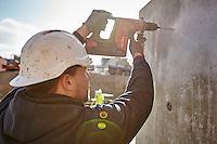 Diakonissestiftelsen Frederiksberg, montering af elementer til nyt Hospice, betonelementer