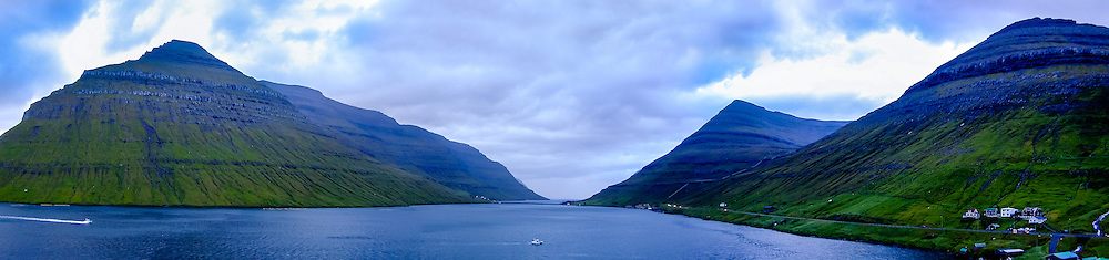 Faroe Islands. Coast close to Klaksvik.