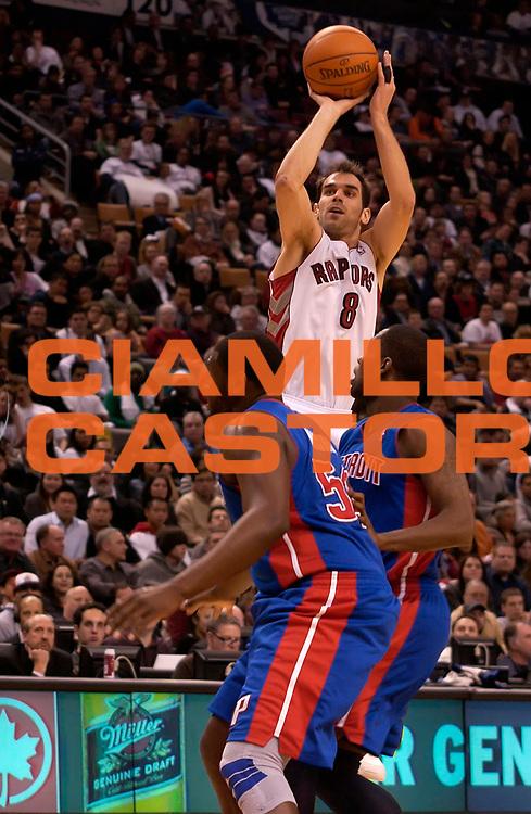 DESCRIZIONE : Toronto NBA 2010-2011 Toronto Raptors Detroit Pistons<br /> GIOCATORE : Jose Calderon<br /> SQUADRA : Toronto Raptors Detroit Pistons<br /> EVENTO : Campionato NBA 2010-2011<br /> GARA : Toronto Raptors Detroit Pistons<br /> DATA : 22/12/2010<br /> CATEGORIA :<br /> SPORT : Pallacanestro <br /> AUTORE : Agenzia Ciamillo-Castoria/V.Keslassy<br /> Galleria : NBA 2010-2011<br /> Fotonotizia : Toronto NBA 2010-2011 Toronto Raptors Detroit Pistons<br /> Predefinita :
