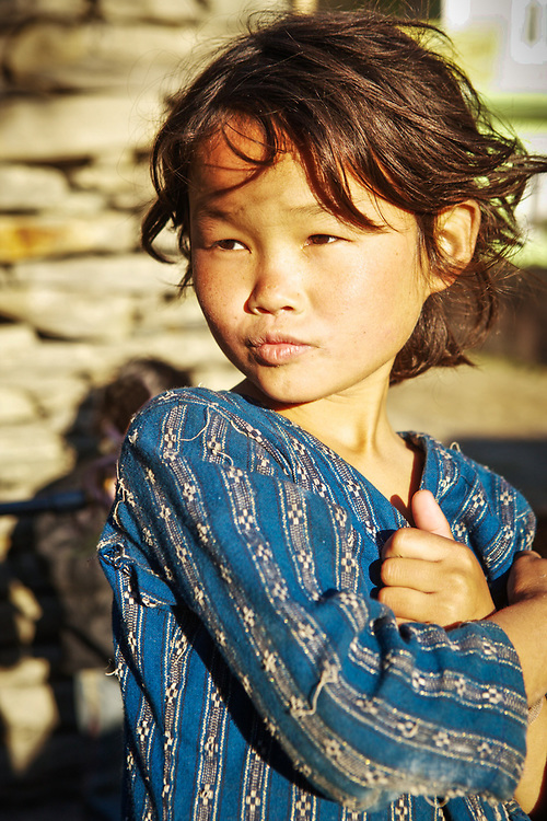 Medical Trek to Nepal with Medical Outreach of America. Village girls waiting for a friend