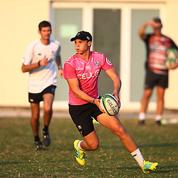 Curwin Bosch of the Cell C Sharks during the Cell C Sharks training, Jonsson Kings Park Stadium,Durban South Africa.27,06,2018 Photo by (Steve Haag REX Shutterstock )