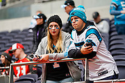 Carolina Panthers fans during the International Series match between Tampa Bay Buccaneers and Carolina Panthers at Tottenham Hotspur Stadium, London, United Kingdom on 13 October 2019.