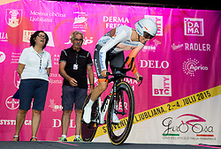 Lucinda Brand (NED) of Rabobank Liv Team during Prologue - Time Trial (2km) at 26th Giro Rosa 2015 Women cycling race, on July 3, 2015 in Centre, Ljubljana,  Slovenia. Photo by Vid Ponikvar / Sportida