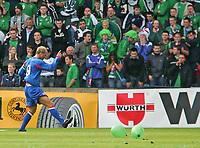 Photo: Andrew Unwin.<br />Northern Ireland v Iceland. European Championships 2008 Qualifying. 02/09/2006.<br />Iceland's Eidur Gudjohnsen celebrates his goal.