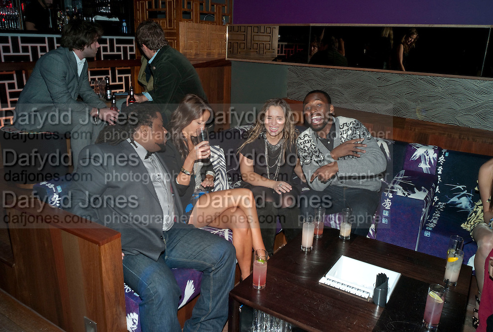 WAYNE GUSTAVE; BREAMA YEN, ; HANNAH SCOTT-THOMAS;  EMMANUEL BAIDOO; The Tatler Little Black Book party. Chinawhite club. London. 21 November 2009