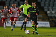 Forest Green Rovers Jack Aitchison(29), on loan from Celtic runs forward during the EFL Sky Bet League 2 match between Stevenage and Forest Green Rovers at the Lamex Stadium, Stevenage, England on 26 December 2019.