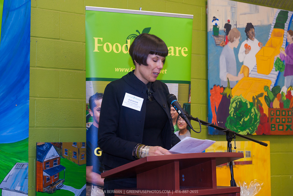 "Adrienne De Francesco at the launch party of ""share"", FoodShare's 1st cookbook. Nov. 14, 2012."