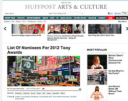 Huffington Post Arts and Culture; Times Square ,New York