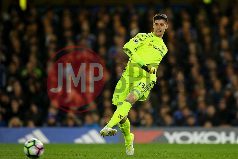 Thibaut Courtois of Chelsea in action - Mandatory by-line: Jason Brown/JMP - 08/05/17 - FOOTBALL - Stamford Bridge - London, England - Chelsea v Middlesbrough - Premier League