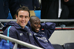 MANCHESTER, ENGLAND - WEDNESDAY, JANUARY 4th, 2006: Manchester City's substitute Bradley Wright-Phillips on the bench against Tottenham Hotspur during the Premiership match at the City of Manchester Stadium. (Pic by David Rawcliffe/Propaganda)