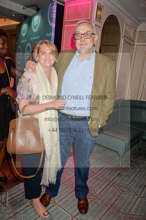 PIERRE KOFFMANN and CLAIRE HARRISON at the 2016 Fortnum & Mason Food & Drink Awards held at Fortnum & Mason, Piccadilly, London on 12th May 2016.
