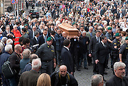 2013/05/07 Roma, funerali di Giulio Andreotti. Nella foto l'arrivo del feretro in chiesa..Rome, funerals of Giulio Andreotti. In the picture the arrival of coffin to the church- © PIERPAOLO SCAVUZZO