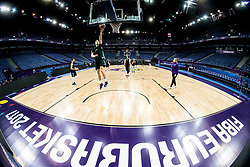 Jaka Blazic of Slovenia at training session during of the FIBA EuroBasket 2017 at Hartwall Arena in Helsinki, Finland on September 4, 2017. Photo by Vid Ponikvar / Sportida