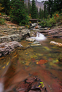 Ptarmigan Creek in fall. Glacier National Park, Montana
