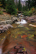 Ptarmigan Creek in fall. Glacier National Park, Montana