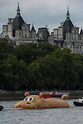 'HippopoThames' passes Westminster- a 21-metre-long hippo sculpture, by Dutch artist Florentijn Hofman (best known for his Rubber Duck installation) is towed upriver to Nine Elms on the South Bank. It is his first UK commission Stepped access to the foreshore, near St George's Tower,  will be available for three hours a day at low tide throughout September.