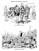 Manners and Modes at Deauville. Where men get their chance. Impression of one's first bathe.
