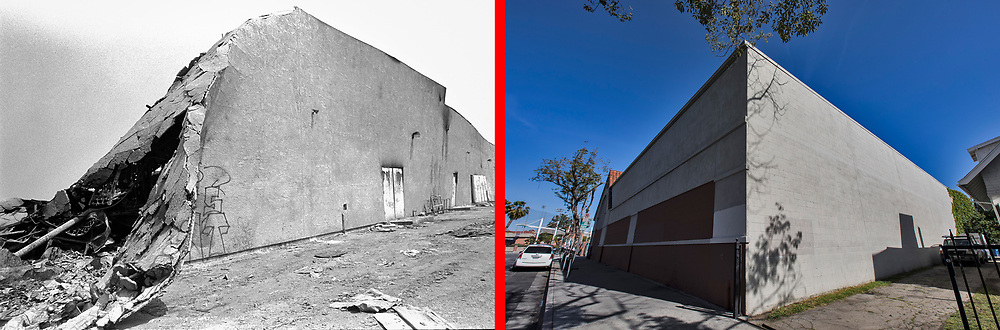 Before and after photos of S.Vermont Ave at 36th Street.<br /> <br /> 25 before and after LA92 photo project.