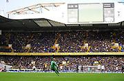 Goalkeeper Paul Robinson of Blackburn Rovers kicks the ball on his return to White Hart Lane, home of Tottenham Hotspur