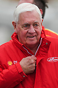 20th May 2018, Winton Motor Raceway, Victoria, Australia; Winton Supercars Supersprint Motor Racing; Dick Johnson smiles after Fabian Coulthard won race 14 of the Supercars Championship