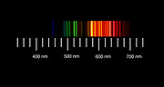 The atomic emission spectra of Neon gas. <br />