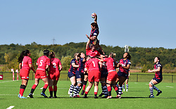 Poppy Leitch of Bristol Bears Women wins a line out.  - Mandatory by-line: Alex James/JMP - 21/09/2019 - RUGBY - Shaftesbury Park - Bristol, England - Bristol Bears Women v Saracens Women - Tyrrells Premier 15s