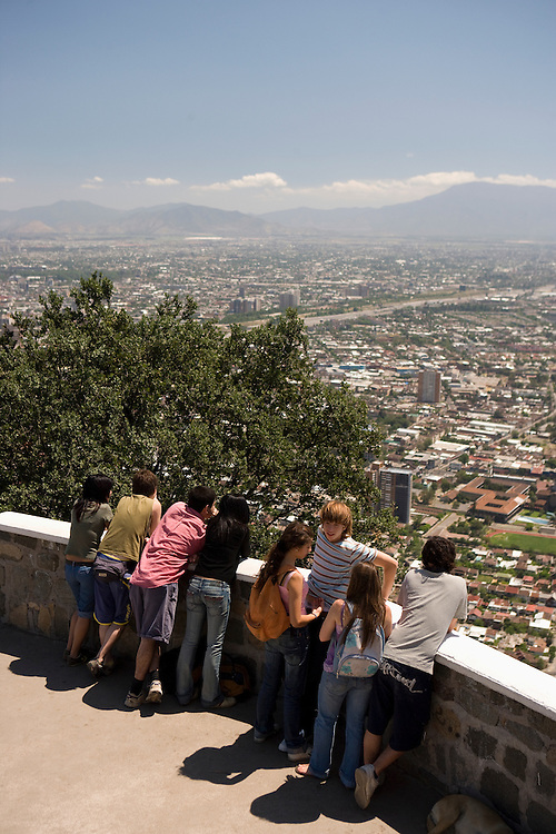 View from Cerro San Cristobal, Santiago, Chile