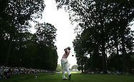 Spanish golfer Sergio Garcia is seen teeing off during the first round of the 2005 PGA Championship at Baltusrol Golf Club in Springfield, New Jersey, Thursday 11 August 2005.