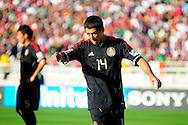 Javier Hernandez, jugador de Mexico en el partido frente a Estados Unidos, en la final de la Copa Oro 2011, en el estadio Rose Bowl, Pasadena, California, hoy sabado 25 de junio de 2011. Fotos IL: WIlton CASTILLO