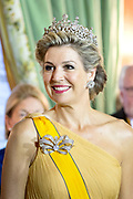 Staatsbezoek aan Luxemburg dag 1 / State visit to Luxembourg day 1<br /> <br /> Op de foto / On the photo: Fotomoment in de Salon des Rois. met koningin Maxima / Photo with  Queen Maxima  in the Salon des Rois.