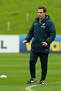 England coach Gary Neville instructing his players during the England Training Session at St George's Park National Football Centre, Burton-Upon-Trent, United Kingdom on 7 October 2015. Photo by Aaron Lupton.