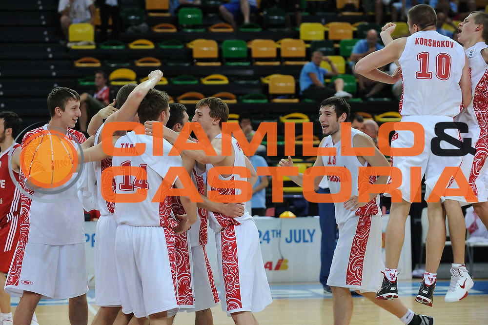 DESCRIZIONE : Bilbao Spain U20 European Championship Men Quarterfinals Russia Turkey Russia Turchia<br /> GIOCATORE : Team Russia<br /> SQUADRA : Russia Russia<br /> EVENTO : Bilbao Spain U20 European Championship Men Quarterfinals Russia Turkey Europeo Maschile Under 20 Quarti di Finale Russia Turchia<br /> GARA : Russia Turchia Russia Turkey<br /> DATA : 22/07/2011<br /> CATEGORIA : <br /> SPORT : Pallacanestro <br /> AUTORE : Agenzia Ciamillo-Castoria/M.Marchi<br /> Galleria : Europeo Under 20 Maschile 2011<br /> Fotonotizia : Bilbao Spain U20 European Championship Men Quarterfinals Russia Turkey Russia Turchia<br /> Predefinita :
