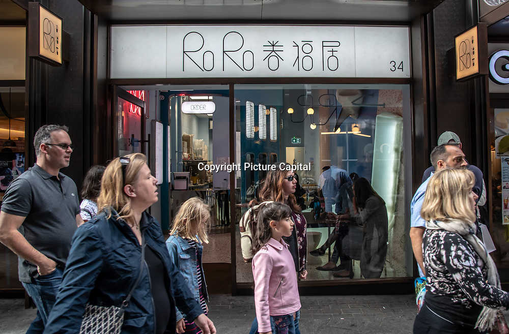 RoRo in London Chinatown Sweet Tooth Cafe and Restaurant at Newport Court and Garret Street on 15 June 2019, UK.