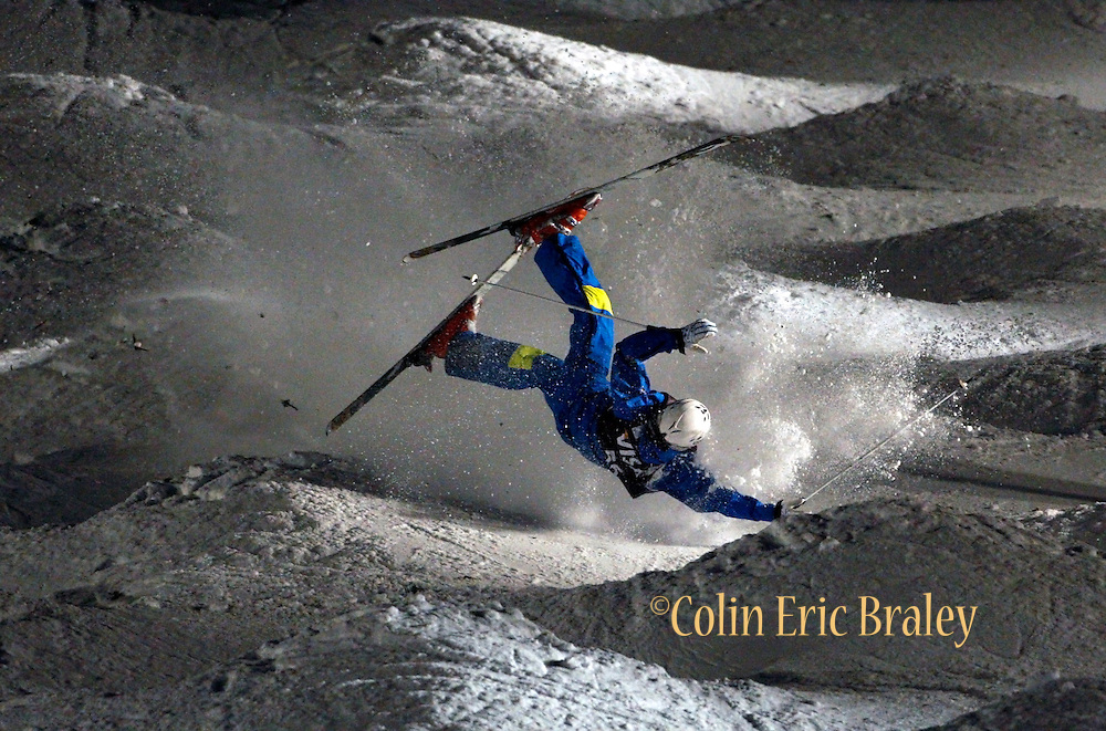 during the qualifying round for the World Cup freestyle moguls at  Deer Valley Resort, Saturday, Jan. 16, 2010, in Park City, Utah. (AP Photo/Colin E Braley).
