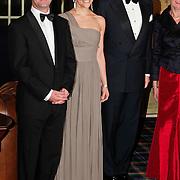 NLD/Noordwijk/20101028 - Bezoek van de Zweedse prinses Victoria en Willem Alexander aan feestavond 50 jarig bestaan Zweedse Kamer van Koophandel met de zweedse ambassadeur