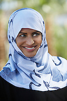 Portrait of muslim woman wearing headscarf