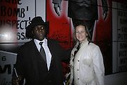 Jegs and Cindy Lass, Gilbert and George Major Exhibition. Tate Modern. Afterwards dinner at Christchurch Spitafields. London. 13 February 2007.  -DO NOT ARCHIVE-© Copyright Photograph by Dafydd Jones. 248 Clapham Rd. London SW9 0PZ. Tel 0207 820 0771. www.dafjones.com.