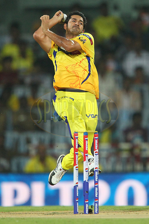 Mohit Sharma during match 64 of the Pepsi Indian Premier League between The Chennai Superkings and the Delhi Daredevils held at the MA Chidambaram Stadium in Chennai on the 14th May 2013..Photo by Ron Gaunt-IPL-SPORTZPICS   .. .Use of this image is subject to the terms and conditions as outlined by the BCCI. These terms can be found by following this link:..http://www.sportzpics.co.za/image/I0000SoRagM2cIEc