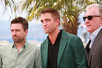 director David Michod, actor Robert Pattinson and producer David Linde at the photo call for the film The Rover at the 67th Cannes Film Festival, Sunday 18th May 2014, Cannes, France.