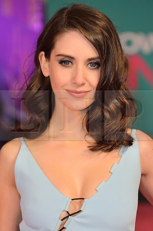 &copy; Licensed to London News Pictures. 09/02/2016. London, UK. ALISON BRIE attends the UK film premiere of 'How To Be Single'.  The film is about a woman writing a book about bacherlorettes who becomes embroiled in an international affair while researching abroad<br /> Photo credit: Ray Tang/LNP