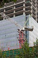 construction crane in Shanghai China